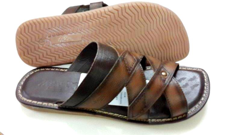 9bf1824a7c408b 100% Genuine NDM Leather with TPR Sole Stylish Chappals for Mens