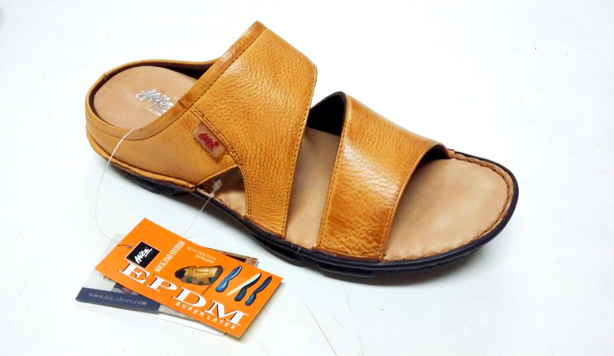 fdd9db861c5e23 100% Genuine NDM Leather with Lycra Lining and PU Sole Comfortable Chappals  for Mens