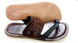 Genuine Crust Leather Material with TPR Sole Stylish Chappals for Mens