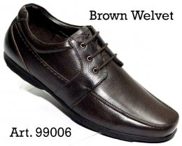 100% Imported Cow Leather with Comfort Padding Insocks Lace-up Shoes for Mens