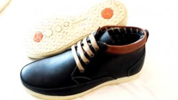 Synthetic Nubuck Leather with TPR Sole Casual Lace-up Shoes for Mens