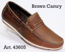 100% Imported Oil Pull-up Leather with Comfort Padding Insocks Casual Slip-On Shoes for Mens