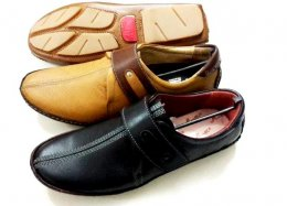 Genuine NDM Leather with TPR Sole Casual Shoes for Mens