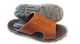 Synthetic Sheep Leather with PU Sole Chappals for Mens