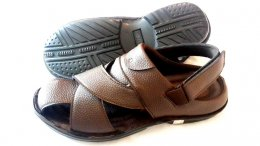 Synthetic Lichie Mild Leather with PU Sole Sandals for Mens
