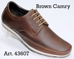 100% Imported Oil Pull-up Leather with Comfort Padding Insocks Lace-up Casual Shoes for Mens