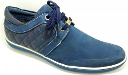 Genuine Nubuck Leather with Collar DD Lace-up Casual Shoes for Mens